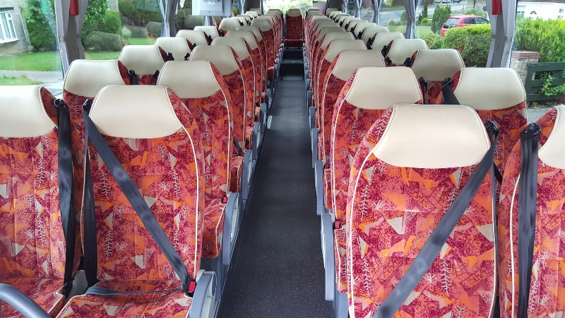 Standard private hire coach interior