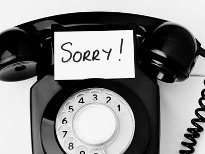 MONDAY 17th SEPTEMBER, OUR PHONES MAY BE OFF!