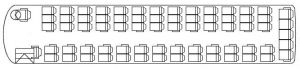 70 Seat Student Class Coach Layout