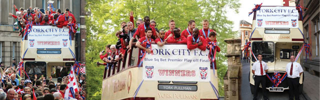 York City FC Bus Celebrations